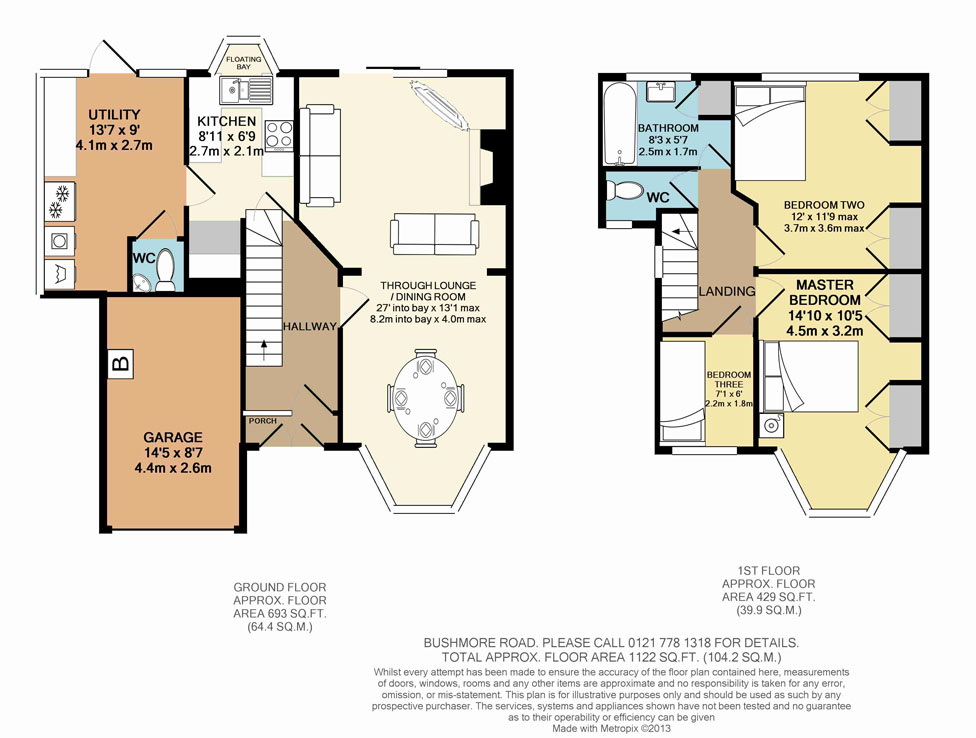 2D Floorplan - Bushmore Road