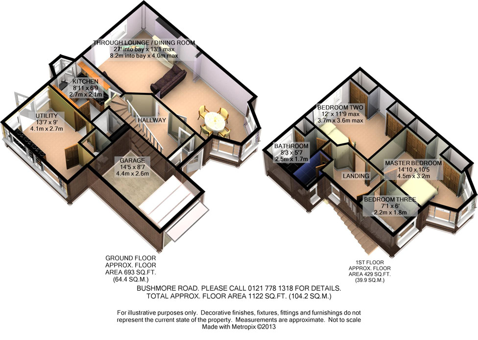 3D Floorplan - Bushmore Road