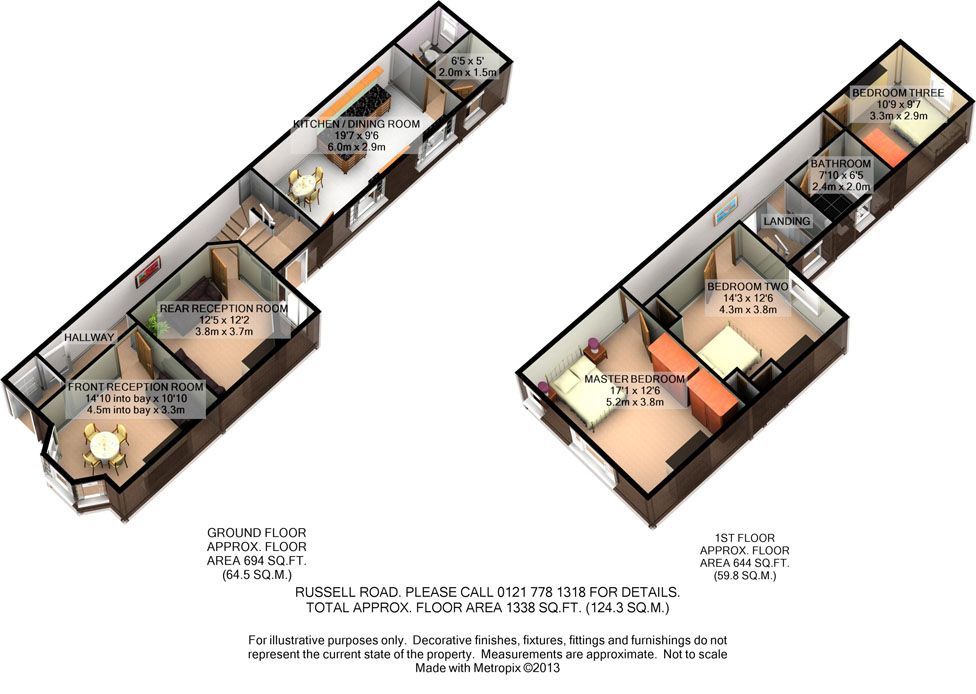 3D Floorplan - Russell Road